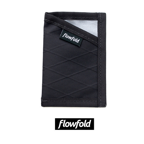 플로우폴드 FLOWFOLD MINIMALIST CARD HOLDER LTD JET BLACK