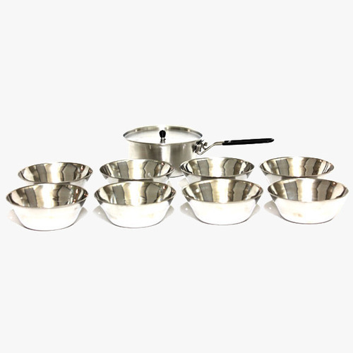 왕초 스텐 뚜껑 밥그릇 9종세트 Boss Stainless Cover Rice Bowl 9PC Set NO.A-0750